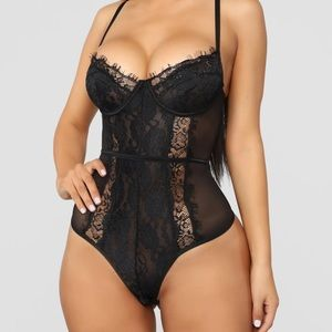 Fashionnova Black Someone to Love II Lace Teddy
